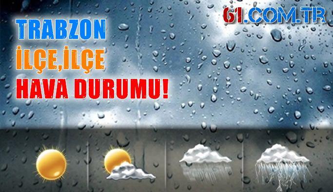 İlçelerimizde hava durumu! Trabzon 29.06.2019