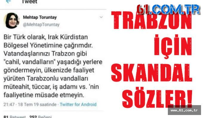 Milletvekili adayından Trabzon için skandal twit