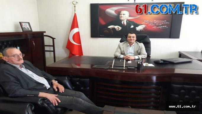 Beşikdüzü Kaymakamlığına Atanan Öztürk'ü Şalpazarı Kaymakamlığında Ziyaret Ettim