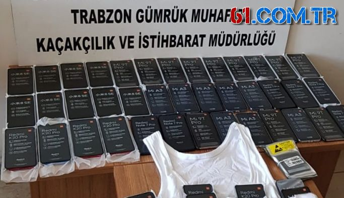 Sharjah'dan Trabzon'a 86 adet kaçak cep telefonu!