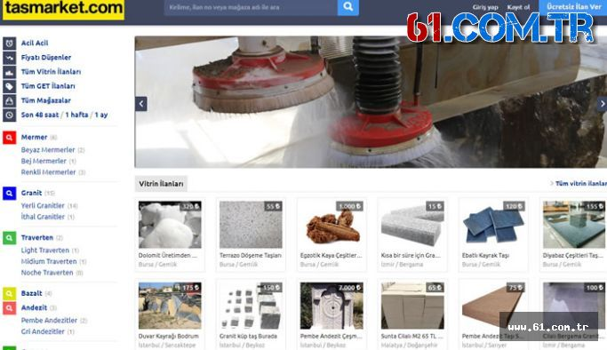 Doğaltaş ilan sitesi Tasmarket.com açıldı
