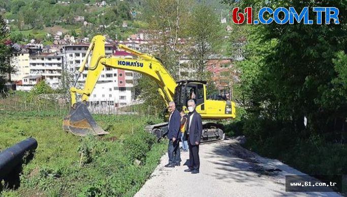 Düzköy-Tonya-Beşikdüzü Karayolu'nda Çalışmalar Yeniden Başladı.