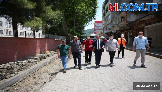 YOMRA'DA ELEKTRİK KABLOLARI YER ALTINA ALINIYOR