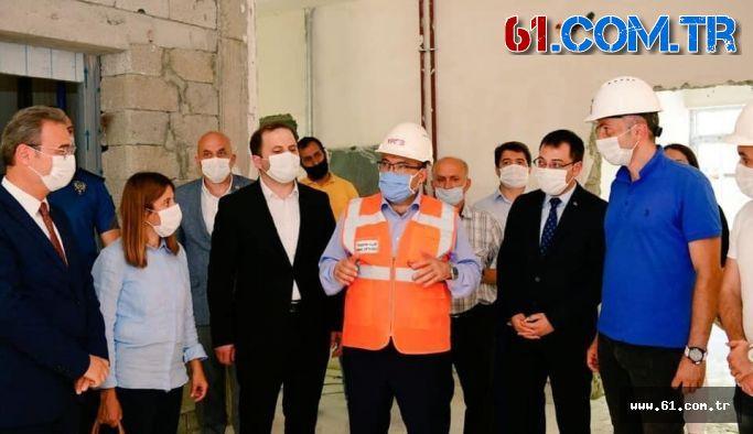 Trabzon Valisi Şalpazarı'nda İncelemelerde Bulundu
