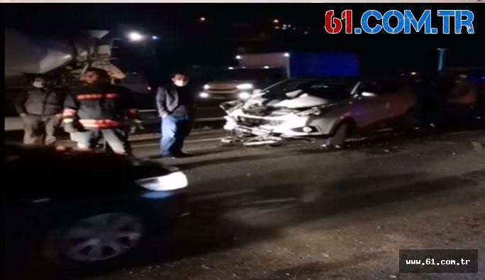 Trabzon Of Çaykara Yolunda Trafik Kazası