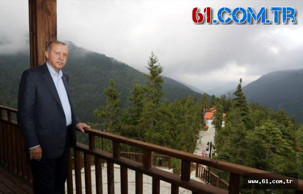 Cumhurbaşkanı Erdoğan, Foleya Mountain Resort Otel'de kahvaltı yaptı