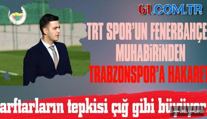 Trabzonspor taraftarları o muhabire tepkili!