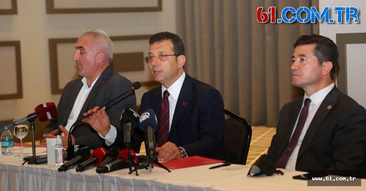Ekrem İmamoğlu Trabzon'da Basın mensuplarıyla bir araya geldi.