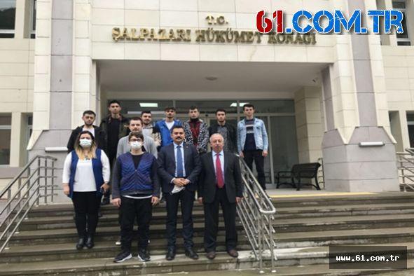 Şalpazarı Meslek Yüksek Okulu'ndan Kaymakam Şahan'a ziyaret