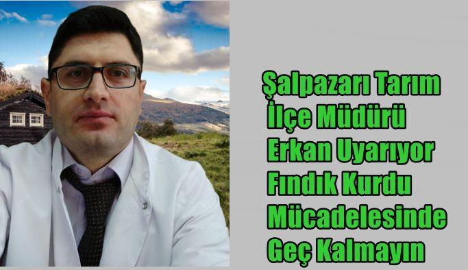 Şalpazarı Tarım İlçe Müdürü Erkan Uyarıyor Fındık Kurdu Mücadelesinde Geç Kalmayın