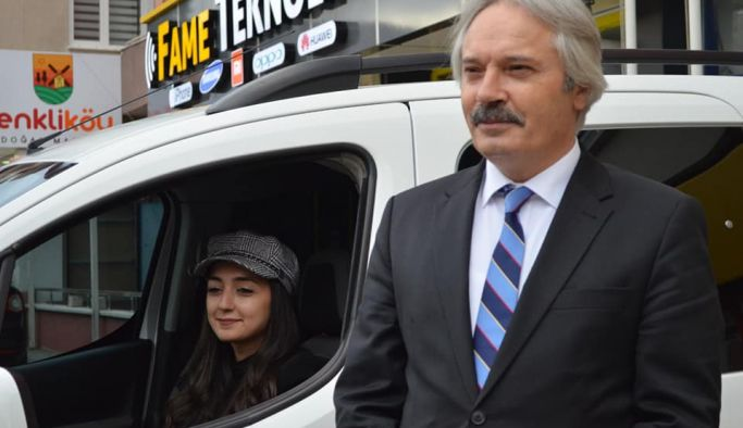 Kurt Amasya'nın İlk Kadın Şoförünü İşe Başlattı''
