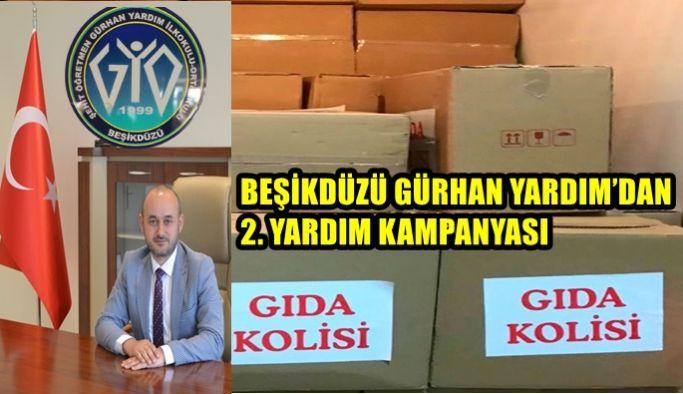 BEŞİKDÜZÜ GÜRHAN YARDIM'DAN 2. YARDIM KAMPANYASI