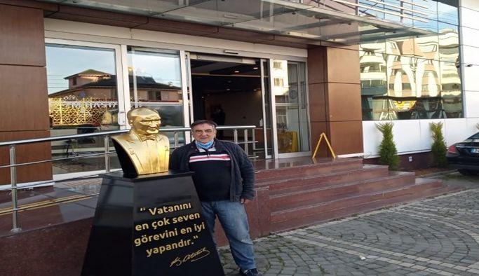 Akçaabat'ta O Hastanenin Önünden Atatürk Büstü Kaldırıldı