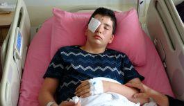 Maganda kurşunu isabet eden Burak Yamaç Sağ Gözünü Kaybetti