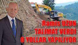 Ramis Uzun talimat verdi o yollar yapılıyor