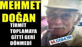 """""""MEHMET DOĞAN TİRMİT TOPLAMAYA GİTTİ GERİ DÖNMEDİ"""""""