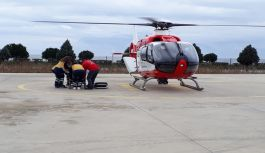 Ambulans Helikopter 95 yaşındaki Keziban Usta İçin Havalandı