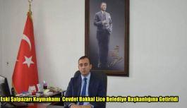 Eski Şalpazarı Kaymakamı Cevdet  Bakkal Lice Belediye Başkanlığına Getirildi