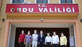 Ordu Valiliğine Atanan Tuncay Sonel'i Hemşehrileri Ziyaret Etti