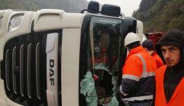Dernekpazarı- Cumapazarı Karayolunda Korkutan Kaza