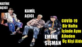 COVİD-19 Bir Hafta İçinde Aynı Aileden Üç Kişi Aldı