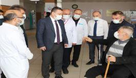 Trabzon Sağlık İl Müdürü Dr. Hakan Usta Vakfıkebir Devlet Hastanesi'nde İncelemelerde Bulundu.