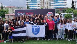 Trabzon'da yapılan U16 Atletizm Ligi'nde...